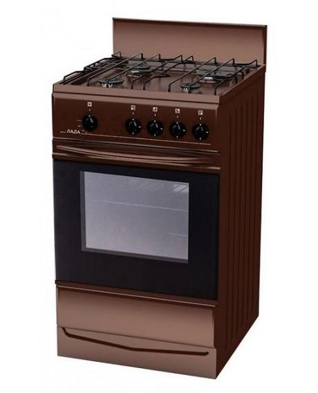 Плита газовая Терра / Лада 14.120 коричневая щиток