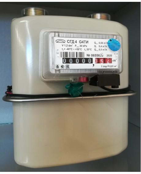 Газовый счетчик СГД4 G4ТИ с термокоррекцией ЛЕВЫЙ