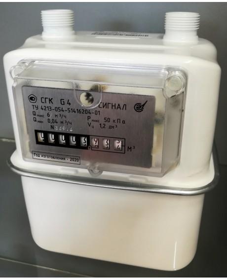 Газовый счетчик СИГНАЛ СГК-G4 ЛЕВЫЙ (М30*2)