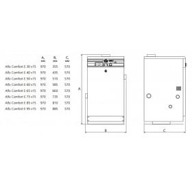 Напольный котел ACV Alfa Comfort E 85 v15