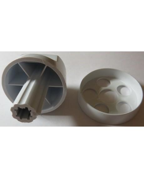 Набор ручек для газовой плиты Дарина мод. GM 141,241  белые