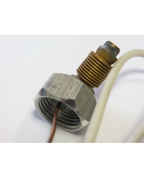 Термодатчик (провод L-1000 mm, термобаллон L-210 mm) с гайкой 1/2