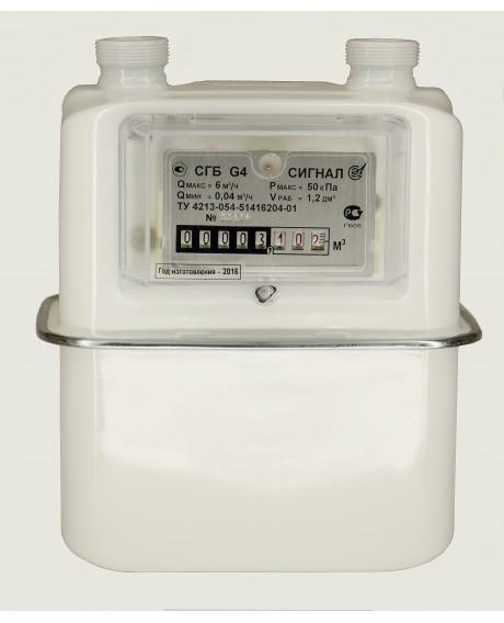 Газовый счетчик СИГНАЛ СГБ-G4-1 вертикальный ЛЕВЫЙ
